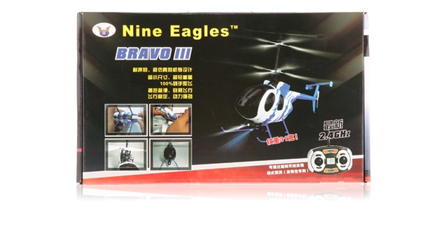 Nine Eagles Bravo III 312A 4CH helicopters RTF (Blue Edition 2.4 GHz )