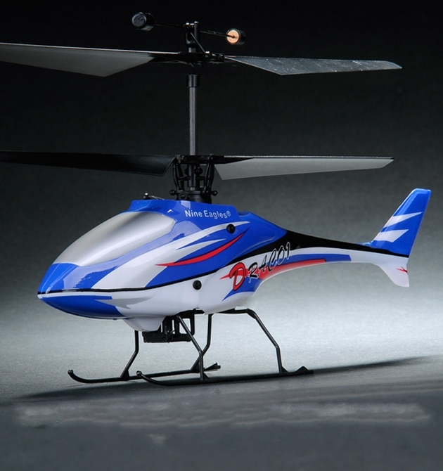 Nine Eagles Draco 210A helicopter 4ch RTF (Blue Edition 2.4 GHz )