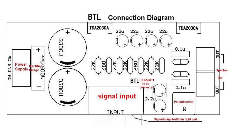 tda2030a audio power amplifier diy kit components ocl 18w x 2 btl 36w - free shipping