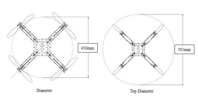 Feiyu X4 Pro Fiberglass Fpv Quadcopter Frame Kit Support Kk Mk Mwc