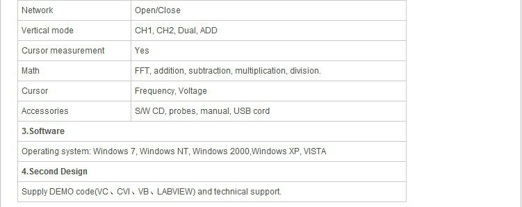 Hantek 6022BE 20MHz USB FFT PC Based 48MSa//s Digital Oscilloscope Storage 2CH