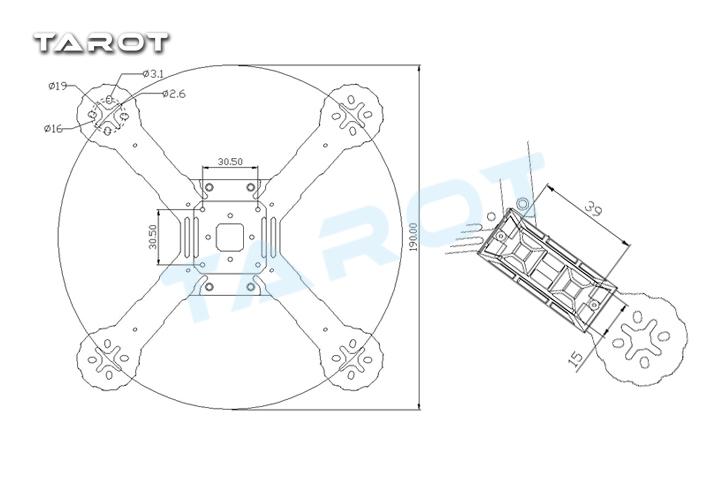 Tarot 190 Fpv Racing Quadcopter Frame 4 Axis Carbon Fiber Wheelbase