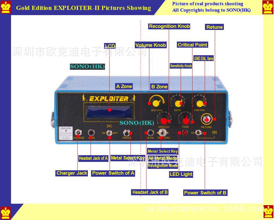 gold edition exploiter ii metal detector undergroud long range gold rh thanksbuyer com Long Range Metal