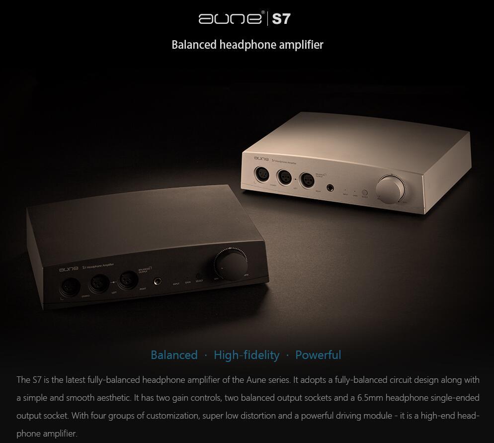 Aune S7 Headphone Amplifier Hifi Audio Earphone Amp Balanced Output Circuit Design Rca Xlr Input Silver