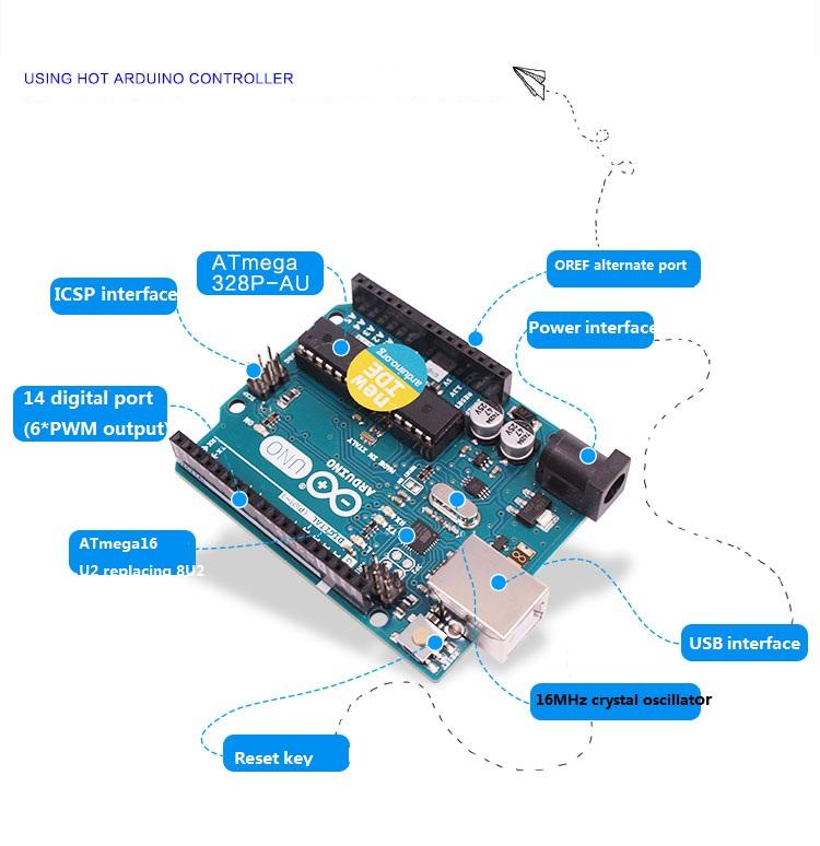 Arduino UNO Intelligent Bat Car Robot Kit R3 Programmable