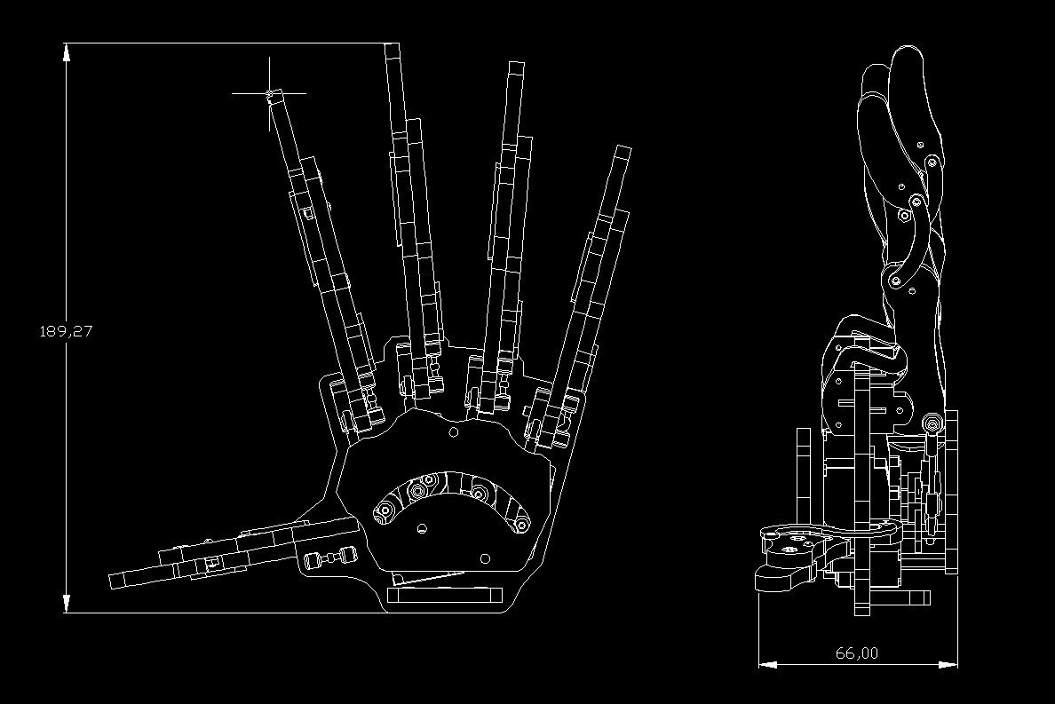 Robotic Mechanical Claw Clamper Gripper Arm Right Hand Five Fingers Schematic With Servos For Robot Diy Assembled