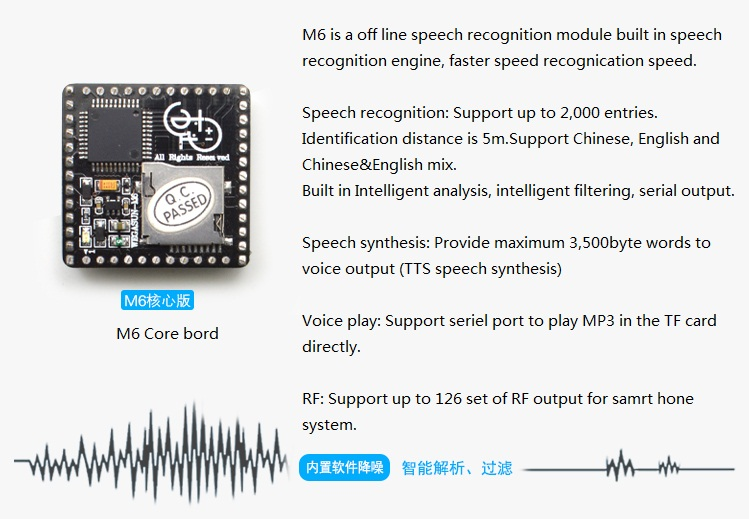 Nonspecific Human Speech Recognition Module Voice Control Play