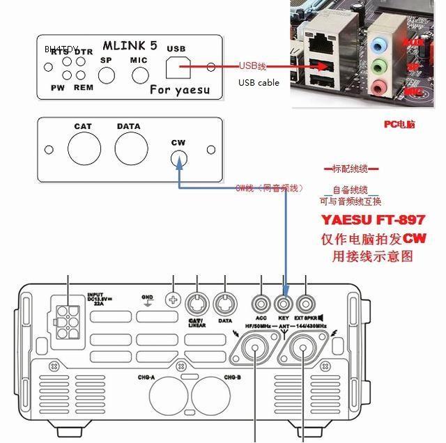 U5 Link Radio Connector Linker Adapter Support Yaesu Ft