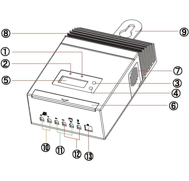 mppt4515 solar charge controller regulator 60a 12v 24v 48v with lcd pv voc 150v dc