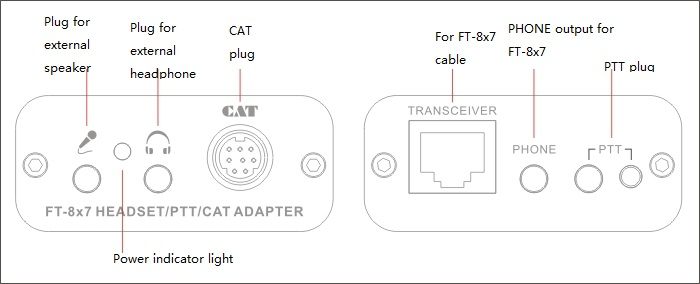 Cat Converter Adapter For Yaesu Ft-817 857 897 Ptt Convert For Audio Headphone Speaker