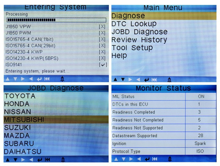 Launch Creader VI Engine ECU Fault Code Reader Erase Scan Diagnostic