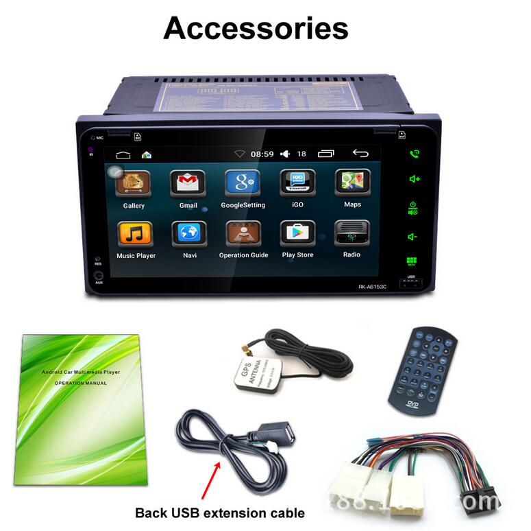MP5 Car Player Rear View Camera Android 6 0 WIFI GPS Navigation 7 0