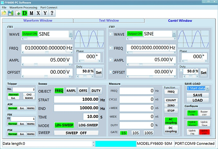 FY6600-50M 50MHz FeelTech DDS Dual Channel Function