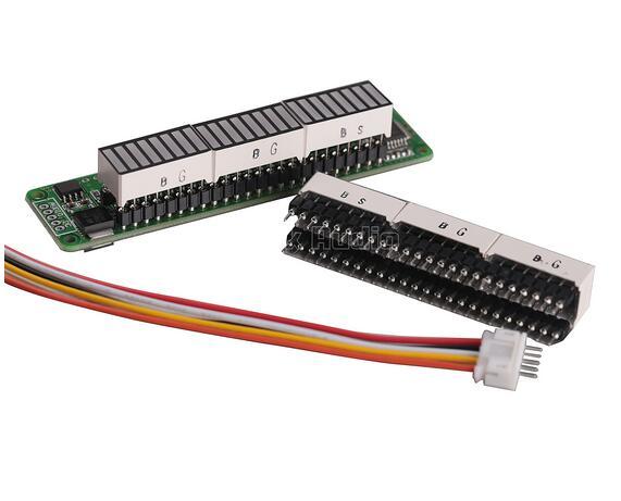 Level Indicator Dual 24 Stereo VU Meter AGC Mode LED Music Display