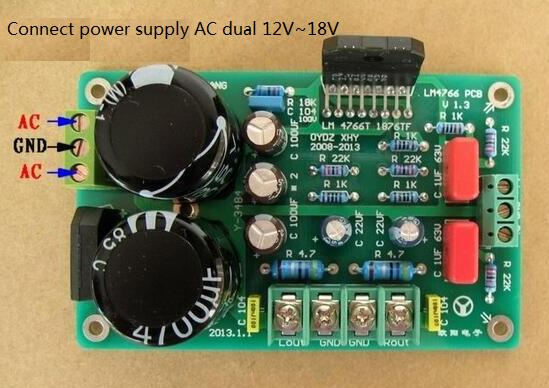 LM1876 Amplifier HiFi Stereo amp Assembled Board 8ohm Output