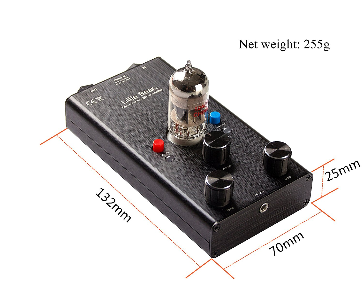 little bear g4 tube valve guitar bass headphone amplifier drive pedal stomp u free shipping. Black Bedroom Furniture Sets. Home Design Ideas